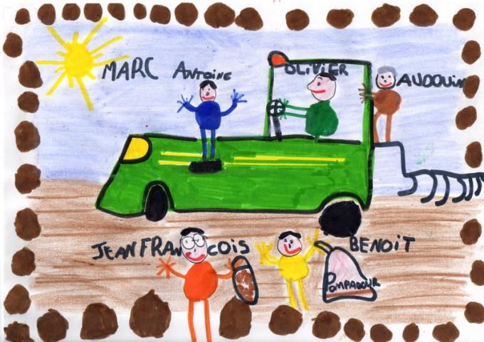 Dessin de Josselin, 6 ans