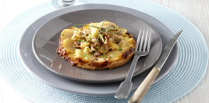 Tatin de pommes de terre au Camembert