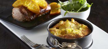 Filets mignons & clafoutis de pommes de terre Pompadour