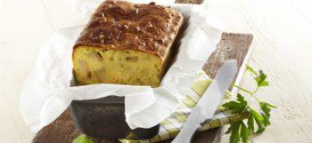 Cake aux pommes de terre Pompadour & courgettes