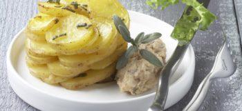 Quenelles de lapin & rosace de pommes de terre Pompadour