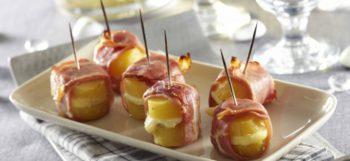 Bouchées de pommes de terre Pompadour au chèvre & lard