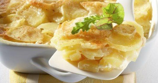 Gratin Dauphinois aux pommes de terre Pompadour & chèvre