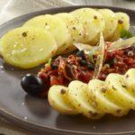 Salade de pommes de terre Pompadour à la sauce pimentée