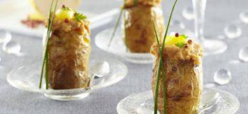 Bouchées de pommes de terre Pompadour farcies au foie gras