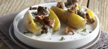 Pommes de terre Pompadour farcies aux champignons & lait de coco