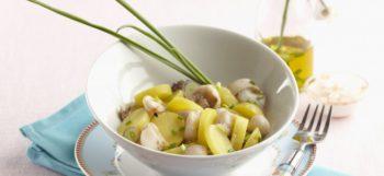 Salade de pommes de terre Pompadour au poulpe