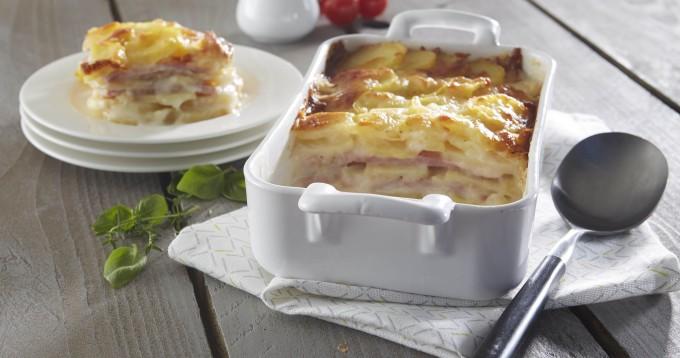 Lasagne de Pompadour au jambon