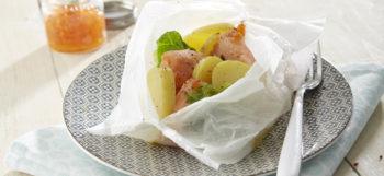 Papillottes de saumon & pommes de terre Pompadour