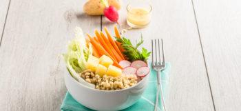 Bowl végétarien aux pommes de terre Pompadour & noix de pécan