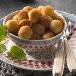 Pommes noisettes de pommes de terre Pompadour farcies au Maroilles