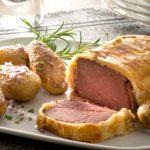 Bœuf en croûte & pommes de terre Pompadour rissolées