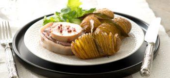 Tournedos Rossini & pomme de terre Pompadour hasselback