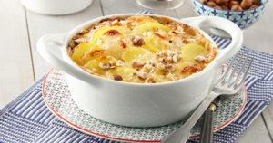 Gratin de pommes de terre Pompadour à la crème de Maroilles