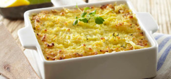 Parmentier aux pommes de terre Pompadour & crabe