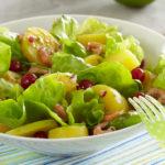 Salade aux pommes de terre Pompadour & crevettesSalade aux pommes de terre Pompadour & crevettes