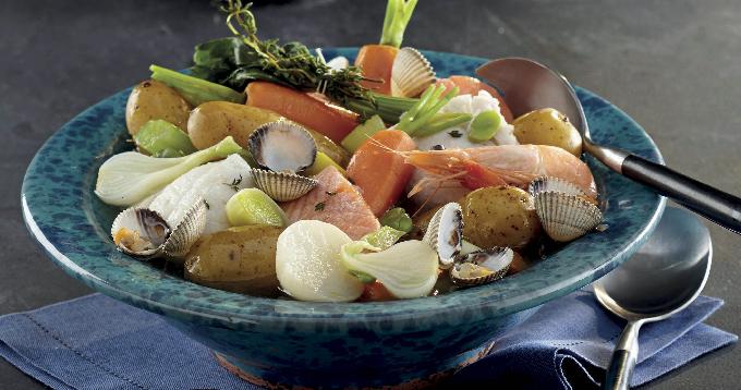 Pot au feu de la mer aux pommes de terre Pompadour