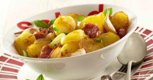 Salade de pommes de terre Pompadour à la Lyonnaise