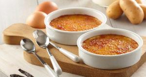 Crèmes brûlées aux pommes de terre Pompadour
