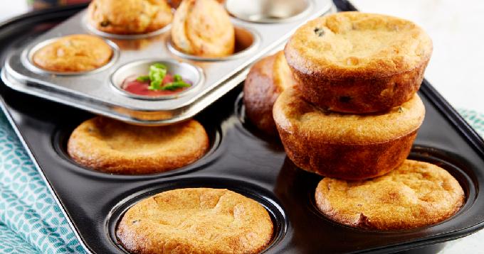 Muffins de pommes de terre Pompadour, féta & olives