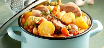 Navarin d'agneau aux pommes de terre Pompadour