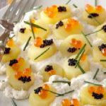 Salade de pommes de terre Pompadour à la chantilly d'huître