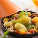 Tajine de pommes de terre Pompadour aux fruits secs